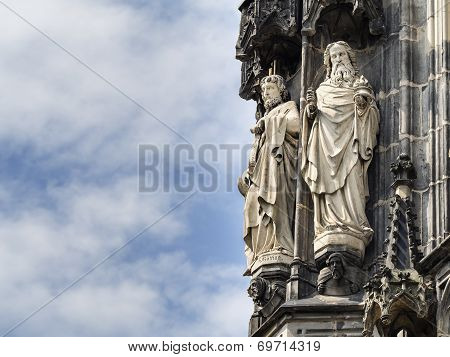Statue Cathedral Aachen