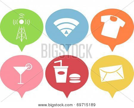 Illustration Featuring Various Business Icons