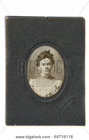 USA- CIRCA 1900s: An antique photo of a young woman