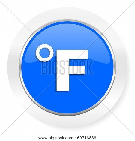 fahrenheit blue glossy web icon