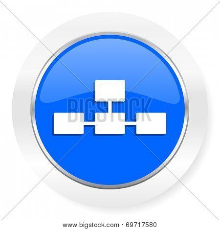 database blue glossy web icon