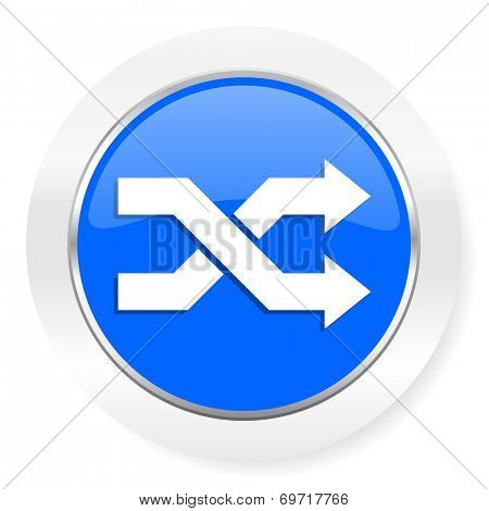 aleatory blue glossy web icon