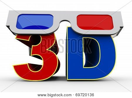 3D Glass On Word 3D
