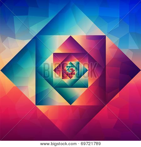 Vintage Optic Art Geometric Pattern