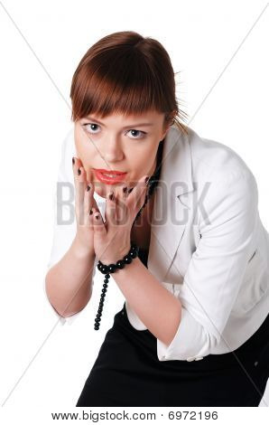 Charming Brunette Business Woman