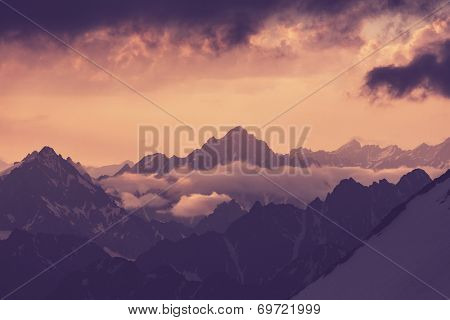 High Caucasus mountains