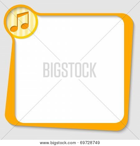 Yellow Text Box For Any Text With Music Symbol
