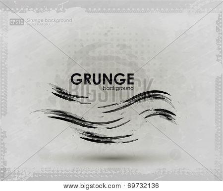 Brush stroke line texture for background. Vector illustration.