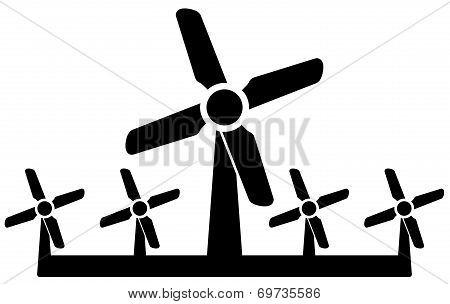 Wind Mill Icon - Wind Power Symbol