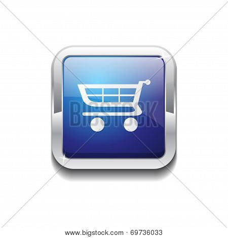 Shopping Rounded Corner Vector Blue Web Icon Button