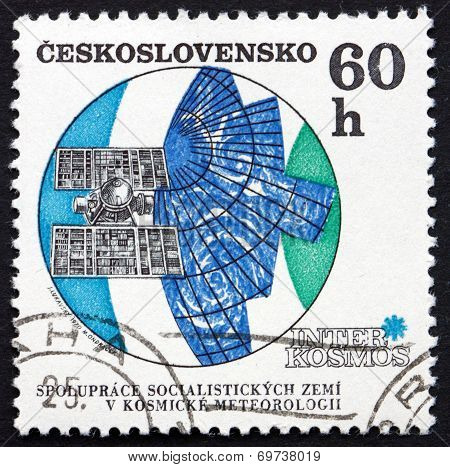 Postage Stamp Czechoslovakia 1970 Molniya Meteorological Satellite