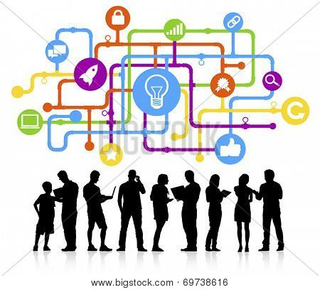 Ideas and social networking theme.