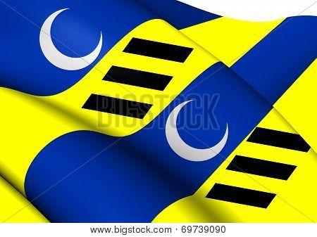 Flag Of Dantumadiel, Netherlands.
