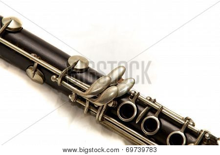 Body Of Clarinet Over White