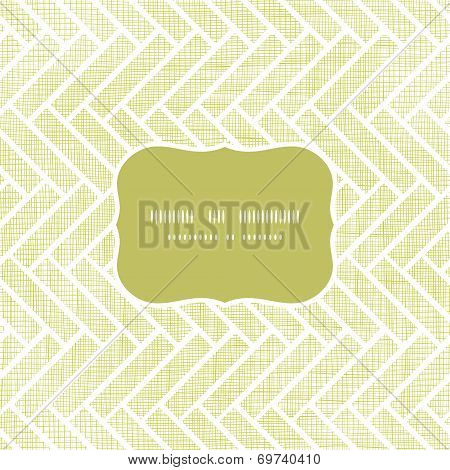Abstract textile parquet frame seamless pattern background