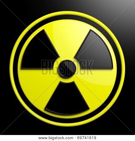 Nuclear warning sign background