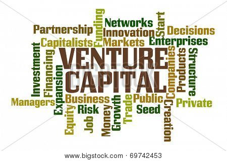 Venture Capital Word Cloud on White Background