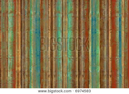 Blue Green And Red Bamboo Stripes