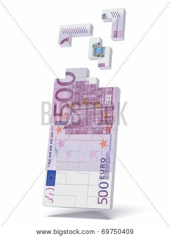 Construction of the 500 euro bill