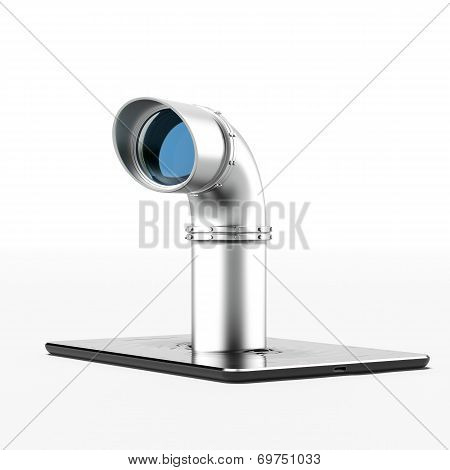 Metal periscope from tablet pc
