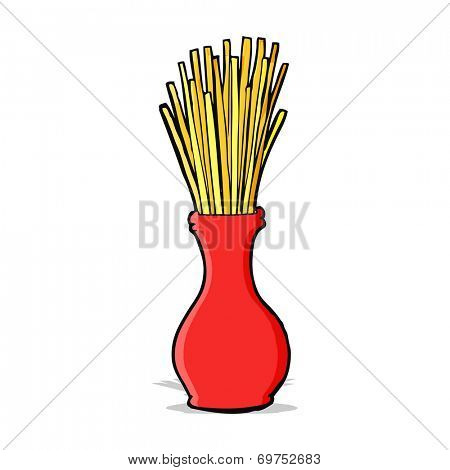 cartoon reeds in vase