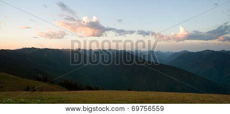 Early Morning Light Olympic Mountains Hurricane Ridge