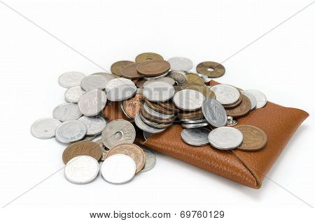 Coins And Coin Purse