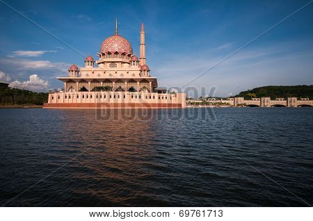 Putra Mosque at evening during hot day