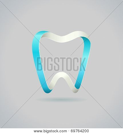 Abstract Tooth. Vector Symbol