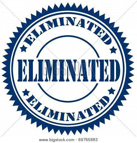 Eliminated-stamp