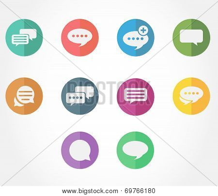 chat and message icons