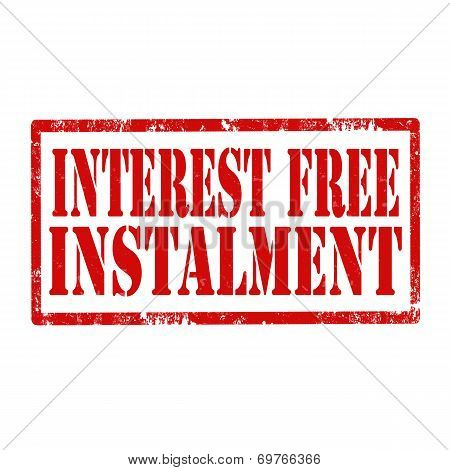 Interest Free Instalment-stamp