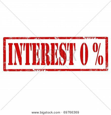 Interest 0%-stamp