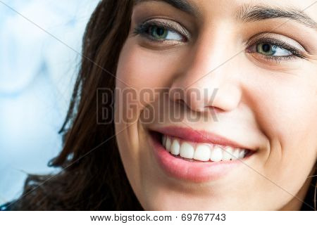 Close Up Of Girl With Charming Smile