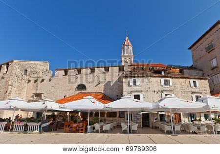 Small Lodge And Walls Of Trogir, Croatia