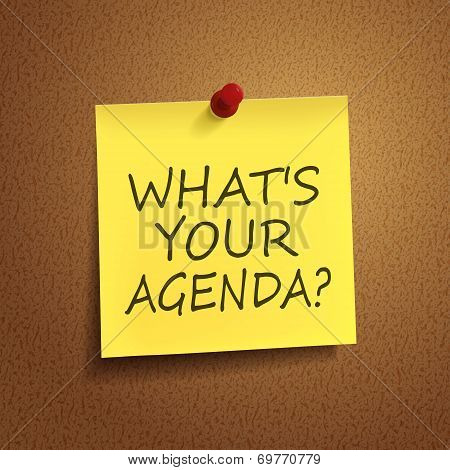 What Is Your Agenda Words On  note