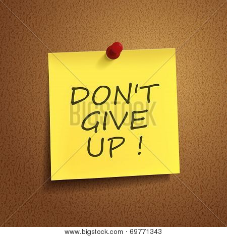 Do Not Give Up Words On note