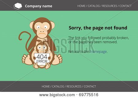 Monkey looking for fleas. Page not found Error 404