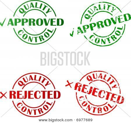 Approved and rejected ink stamps