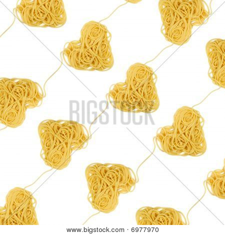 Pasta Heart Ornament Diagonal (valintine`s Day Theme)