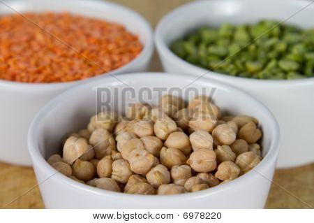 Selection Of Grains In Bowls