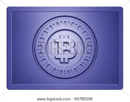 Blue Metallic Bitcoin Plate