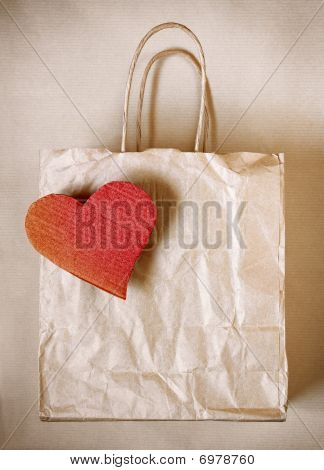 Heart Paper Bag