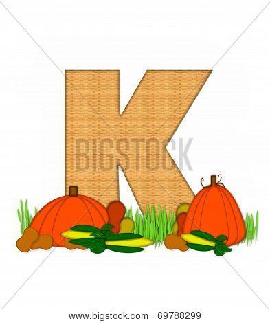 Alphabet Blessed Bounty K