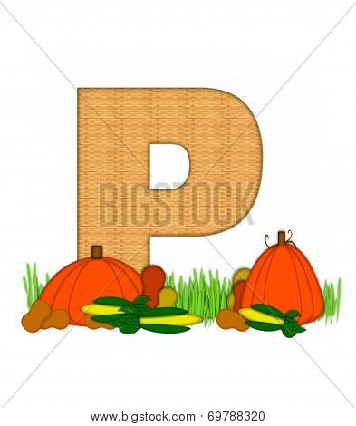 Alphabet Blessed Bounty P