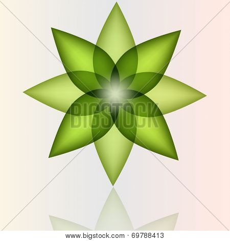Abstract flower design