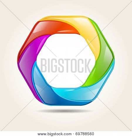 Bright colorful shape