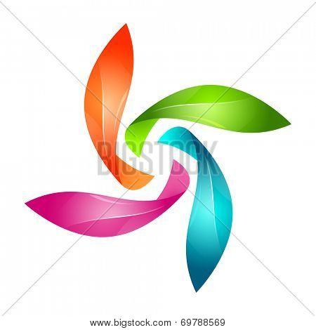 Abstract floral sign