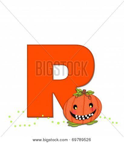 Alphabet Pumpkin Head R