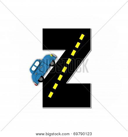 Alphabet Transportation By Road Z